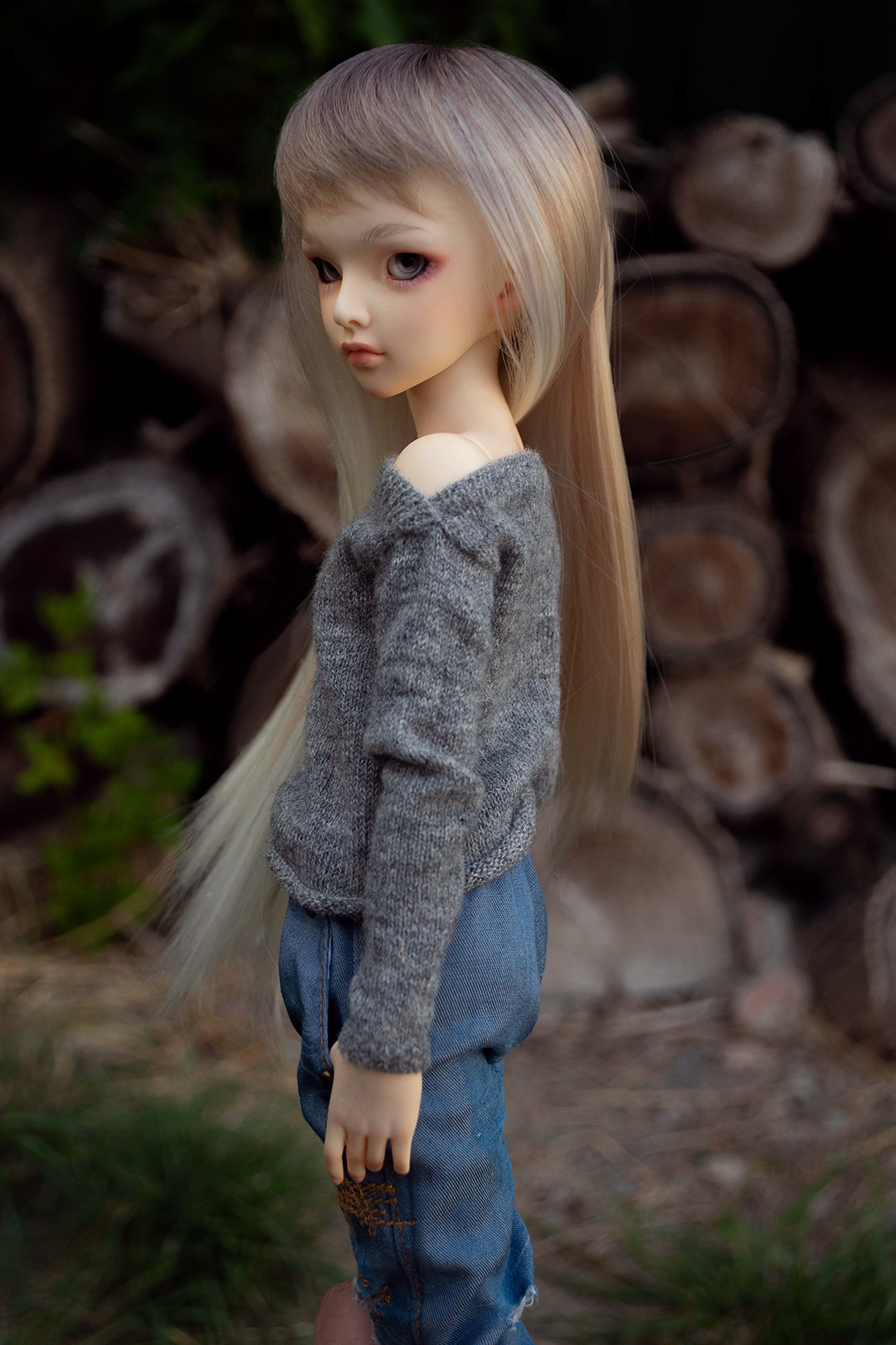 Three Mice: handknited clothes for BJD