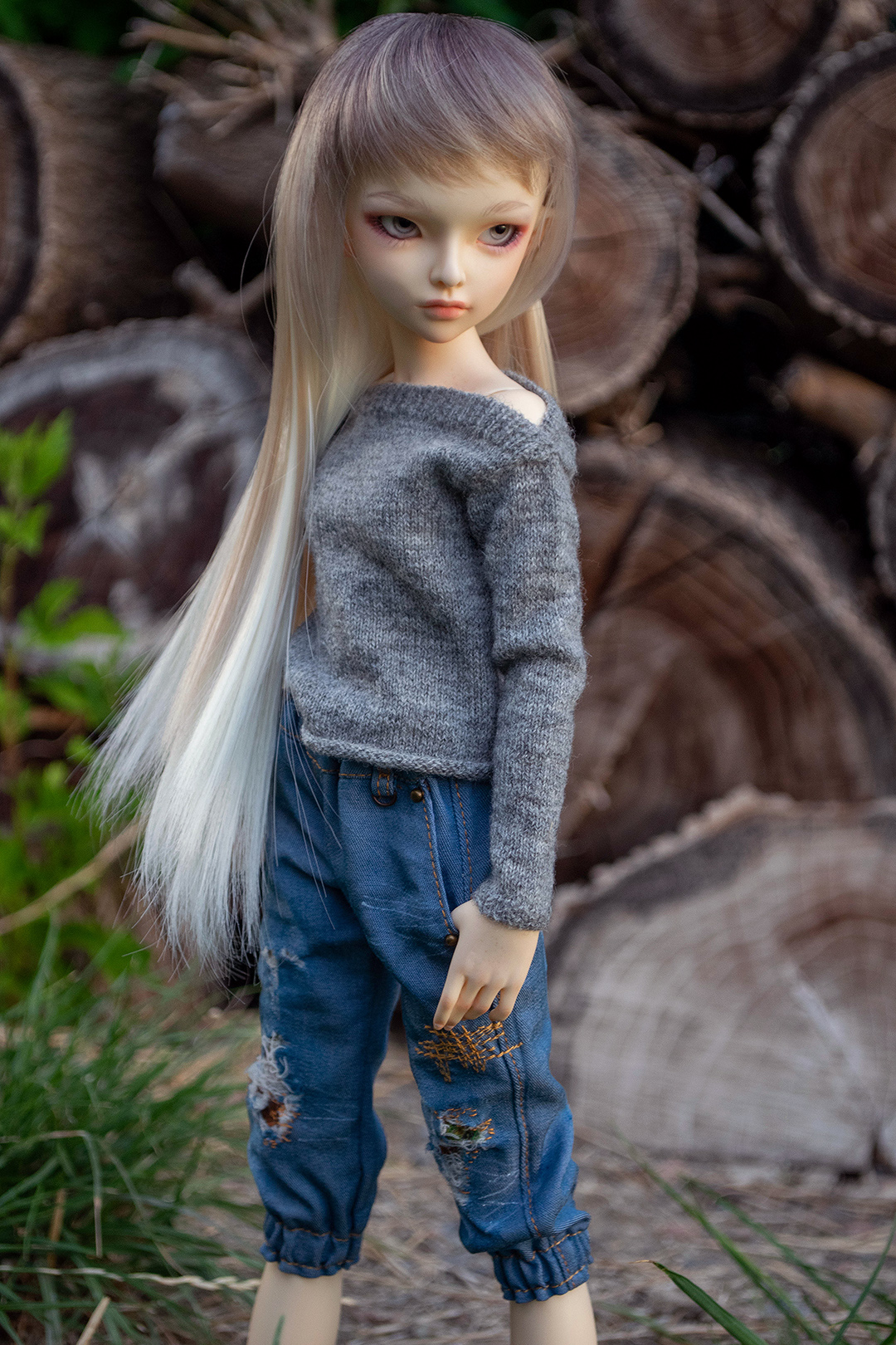 Three Mice: handknited clothes for MSD BJD