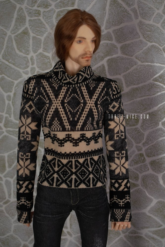 Longsleeve with nordic pattern