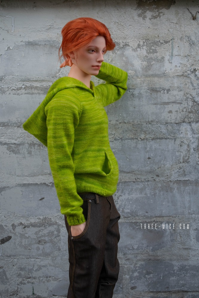apple-green hoodie for 70cm BJD boy / Pygmalion Teia 71