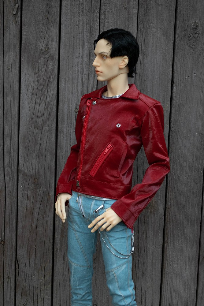 Red biker jacket for LLT Ballerino, 5th motif