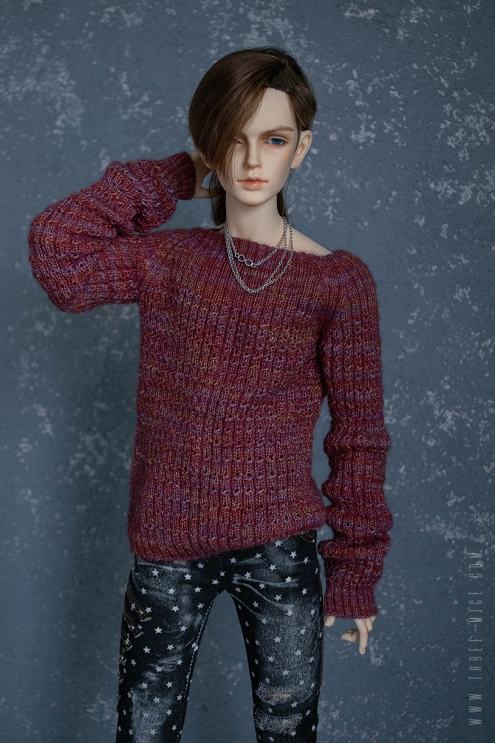 sweater from soft silky merino yarn fit for SD BJD