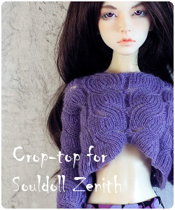 Crop-top for Souldoll Zenith body BJD and SD girls