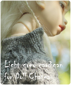 Kid Doll Chateau MSD BJD Ligtht-grey Handknitted Cardigan