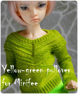Yellow-green pullover for Minifee, Narae and Slim MSD BJD