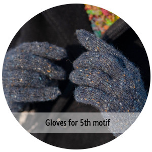 Knitted gloves for 5th Motif