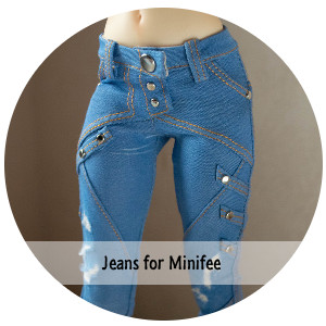 Fashion slim fitting jeans for Minifee