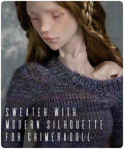 Handknitted sweater for chimeradoll BJD